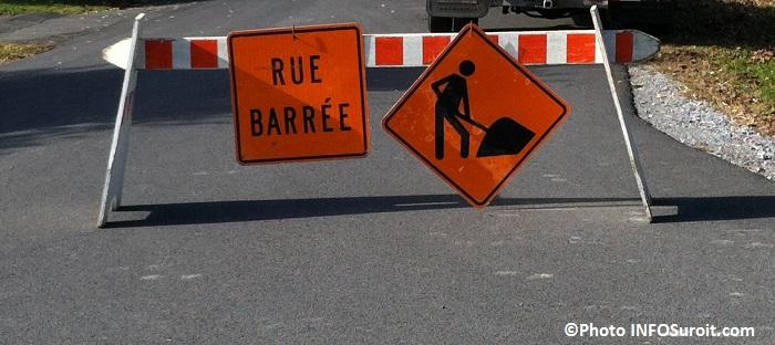 rue barre enseigne travaux circulation locale fermeture Photo INFOSuroit