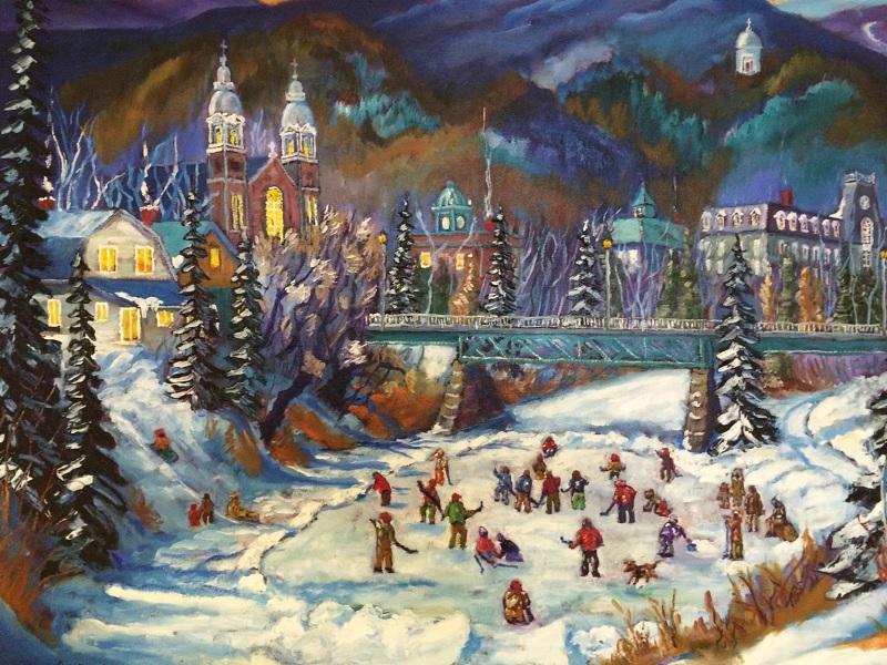 Festival Glisse et Reglisse de Rigaud carte peinture centre-ville Rigaud hiver Visuel courtoisie