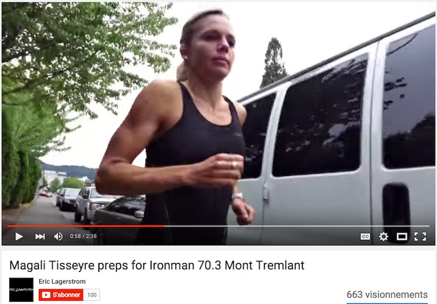 Magali_Tisseyre en preparation pour Iron Tremblant extrait video Youtube Eric Lagerstrom