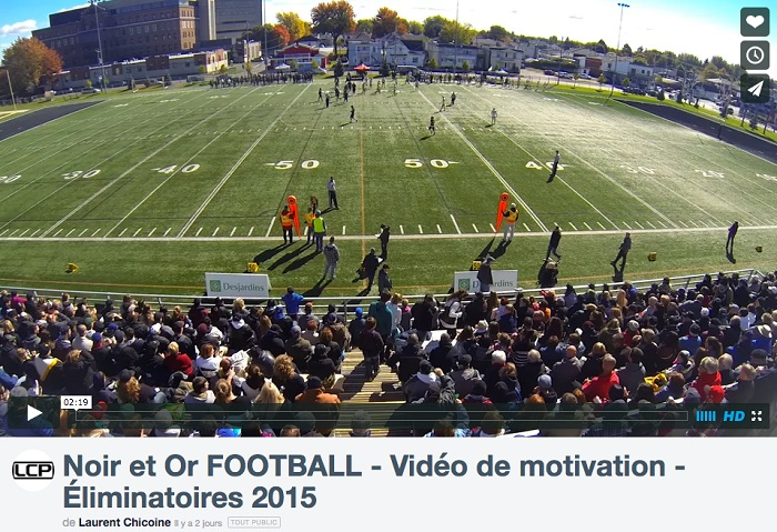 Noir et Or football Valleyfield Viedo motivation de Laurent_Chicoine LCP via Vimeo