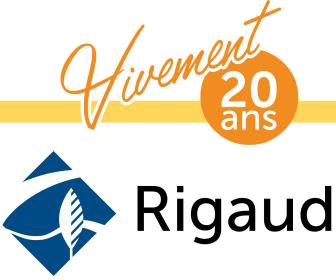 Vivement 20 ans Rigaud logos