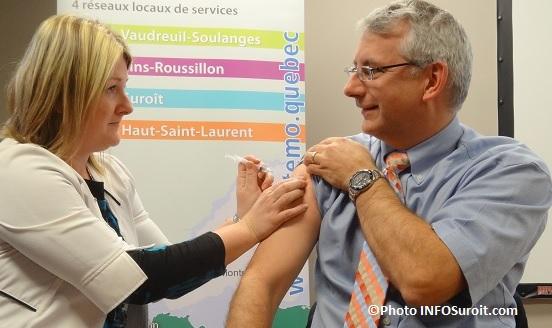 campagne vaccination contre la grippe CISSSMO 2015 Photo INFOSuroit_com