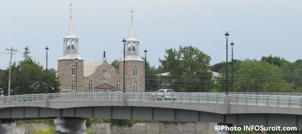 eglise Saint-Joachim et pont Arthur-Laberge Photo INFOSuroit_com