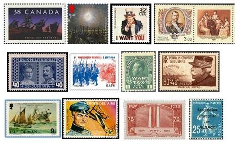 timbres premiere guerre mondiale pour conference de Robert_Poupard Image courtoisie