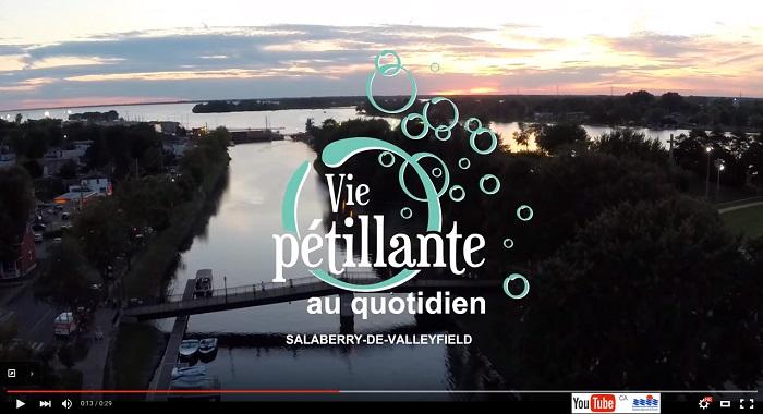 video Valleyfield Vie petillante au quotidien version pub via YouTube