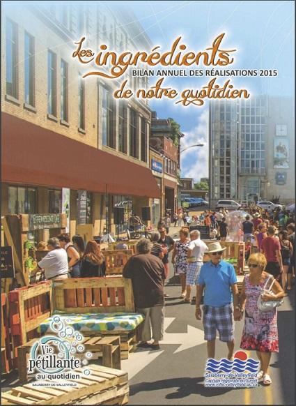 Brochure Bilan des realisations 2015 Ville de Salaberry-de-Valleyfield page Frontispice