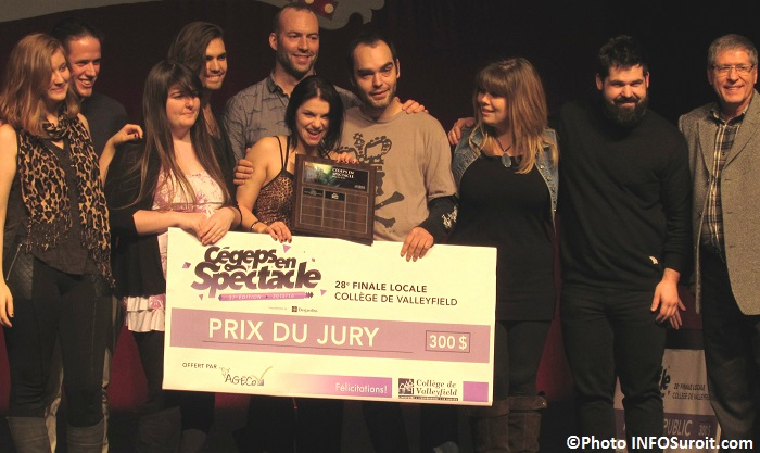 Cegeps en spectacle College Valleyfield Prix du jury les 2 gagnants Photo INFOSuroit_com