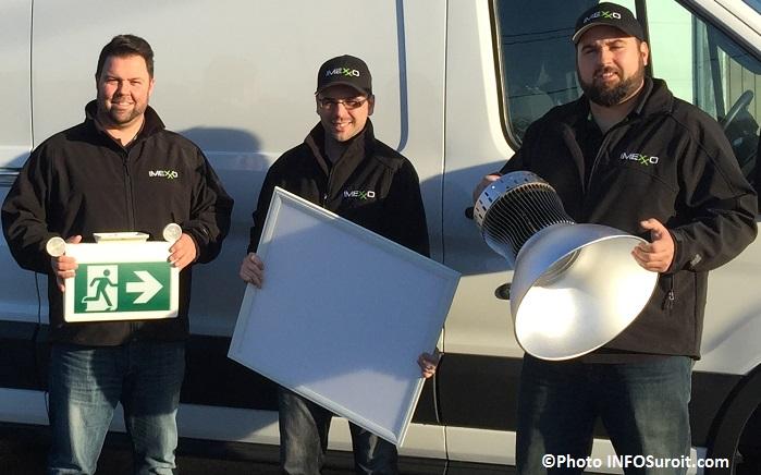 Imexxo les 3 entrepreneurs avec luminaires Photo INFOSuroit_com