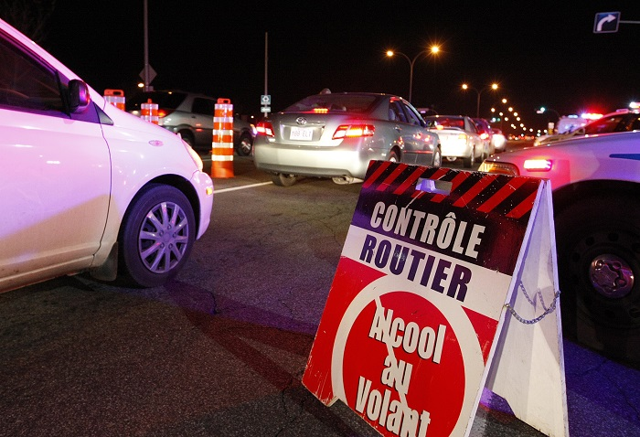 barrage alcool controle routier police SQ pont Mgr-Langlois Photo courtoisie SQ