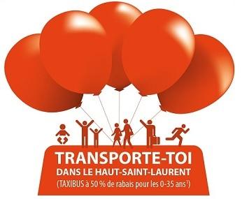 logo projet Transporte-toi dans le Haut-St-Laurent Image courtoisie MRC HSL