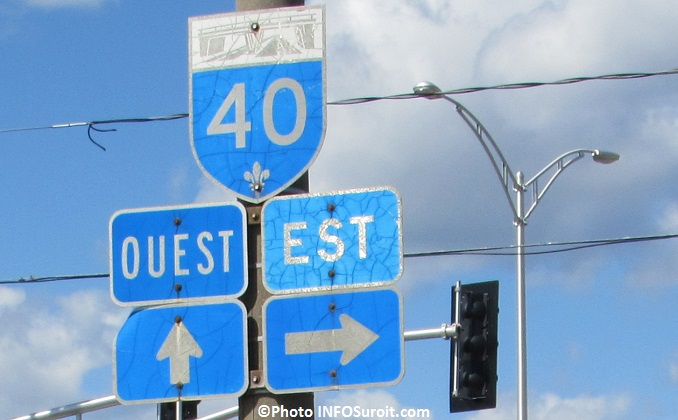 Affiche panneau A40 autoroute 40 a Vaudreuil-Dorion Photo INFOSuroit_com
