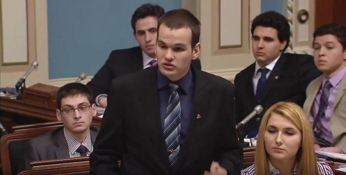 Forum etudiant Assemblee nationale du Quebec Extrait YouTube