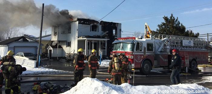 incendie 14e avenue secteur Melocheville Beauharnois Photo INFOSuroit_com