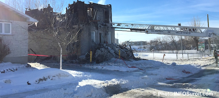 Incendie rue Fabre Valleyfield Photo INFOSuroit_com