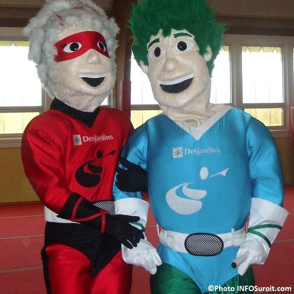 Jeux-du-Quebec-2011 mascottes Ria et Vito Photo INFOSuroit_com