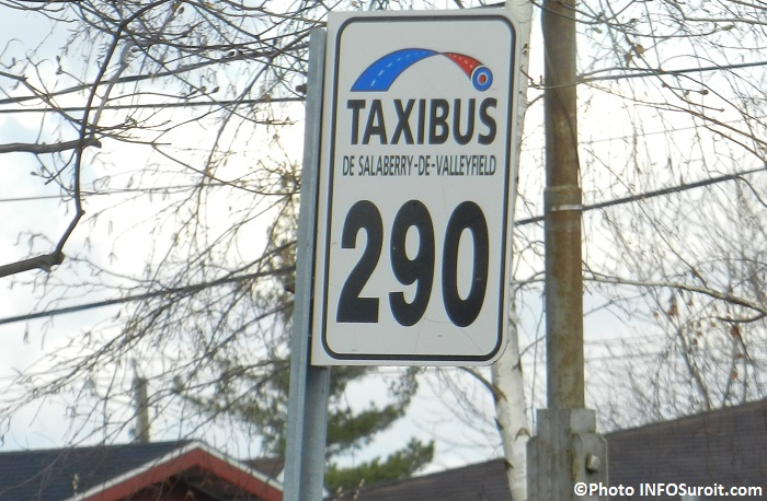 Taxibus Valleyfield panneau 290 automne Photo INFOSuroit_com