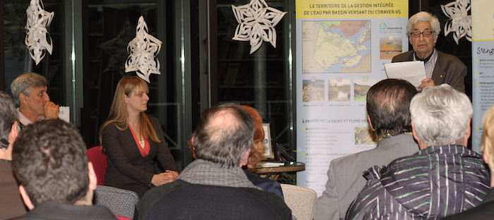 presentation plan directeur de l eau par le COBAVER-VS Photo courtoisie