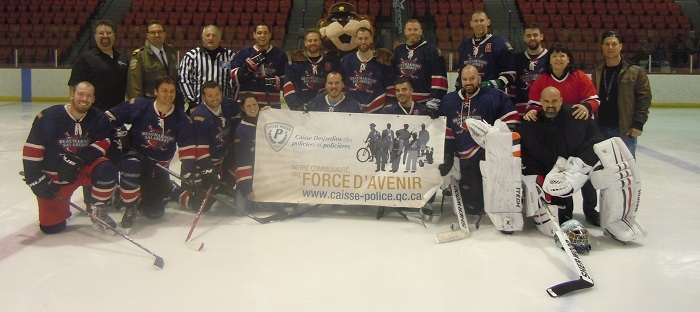 Hockeyton policiers de la SQ Beauharnois-Salaberry equipe 2016 photo courtoisie