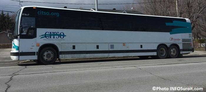 autobus CITSO sur la route 132 Photo INFOSuroit_com