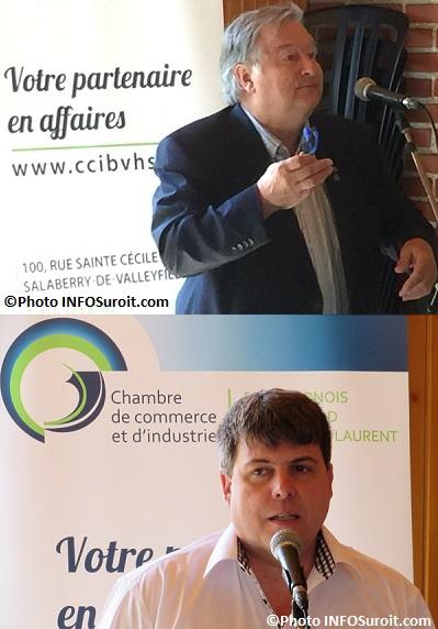 Mardis en musique Chambre de commerce maire Denis_Lapointe et Luc_Roberge CEZinc photos INFOSuroit
