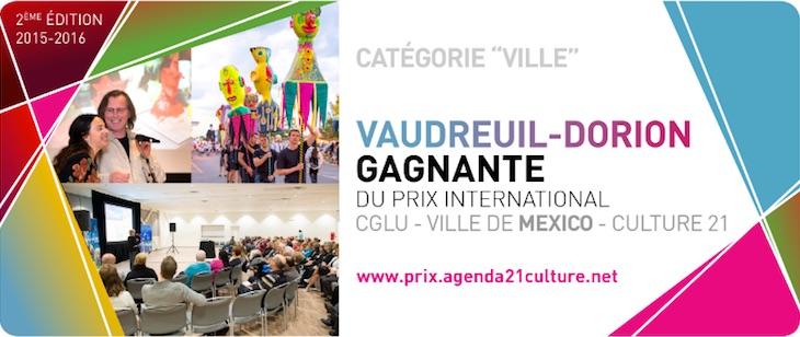 Vaudreuil-Dorion gagnante prix agenda21culture Image du site Web