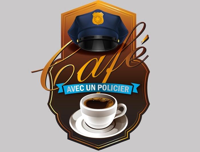Cafe avec un policier visuel via Service Police de Chateauguay