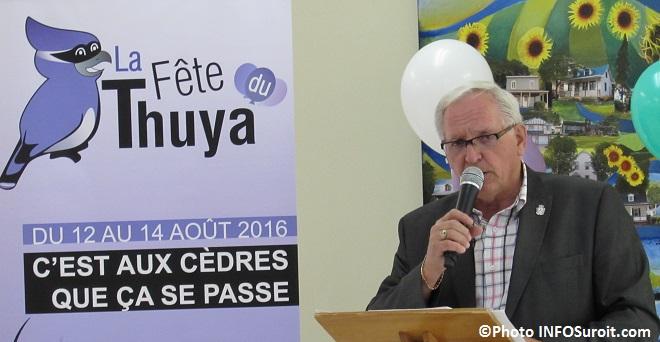 Fete du Thuya maire des cedres Raymond_Larouche Photo INFOSuroit_com