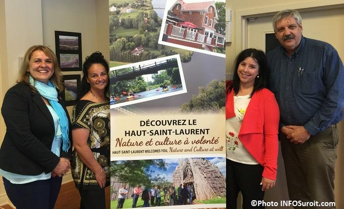 L_Lebrun F_Berard A_St-Aubin et A_Brunette lancement tourisme HSL Photo INFOSuroit