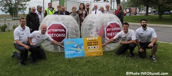 Lancement campagne Bon Pied Bon oeil a Sainte-Martine Photo INFOSuroit_com