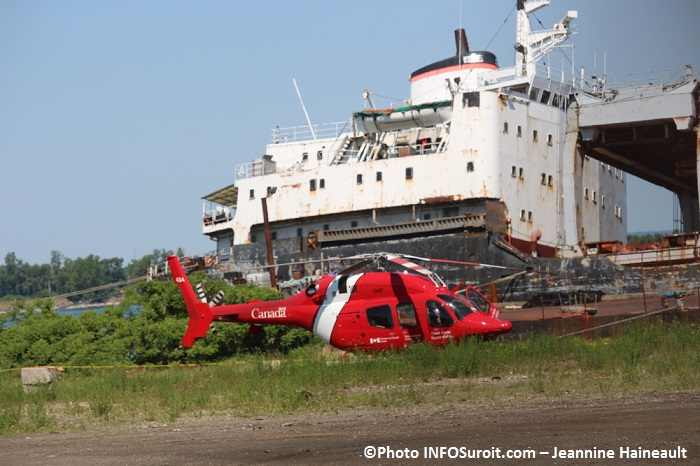 bateau Kathryn Spirit helicoptere Transport Canada a Beauharnois Photo INFOSuroit-Jeannine_Haineault