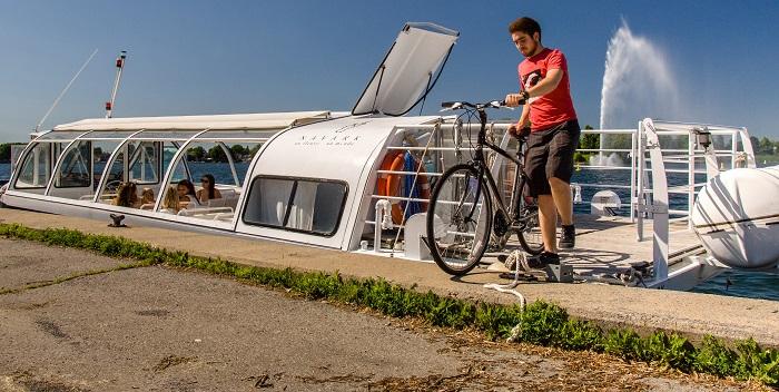 bateau navette des canaux Valleyfield Les_Coteaux velo Photo courtoisie SDV