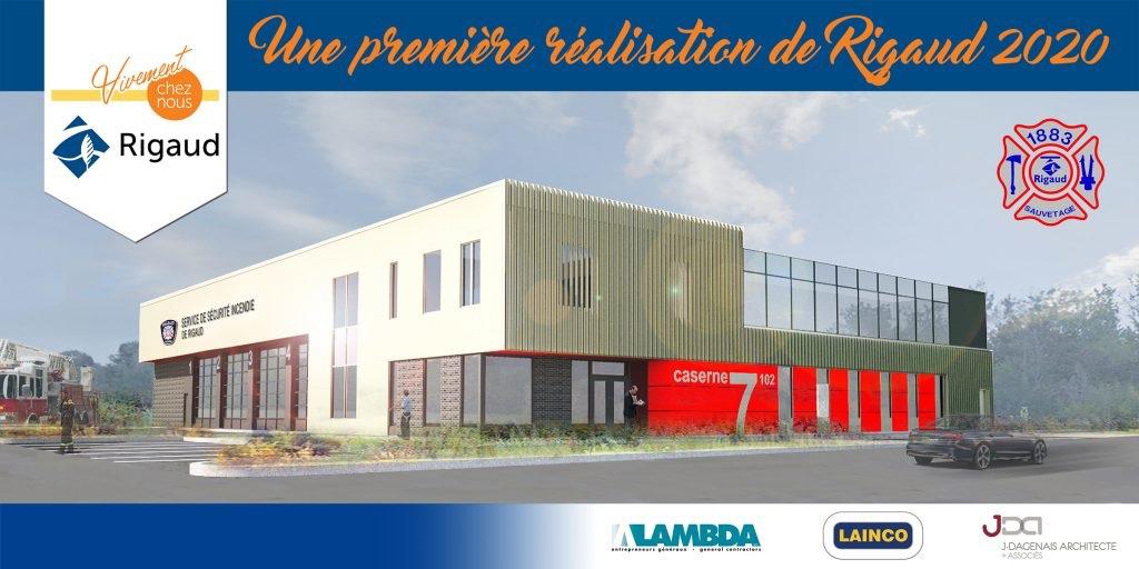 maquette nouvelle caserne pompiers Rigaud Image courtoisie