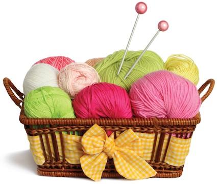 tricot panier laine broches a tricoter image courtoisie ville de Vaudreuil-Dorion