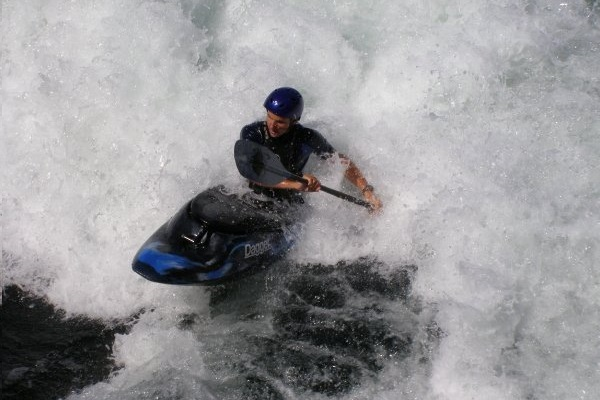 Kayak eau vive freestyle Jean-Patrick Blanchette Photo courtoisie JPB