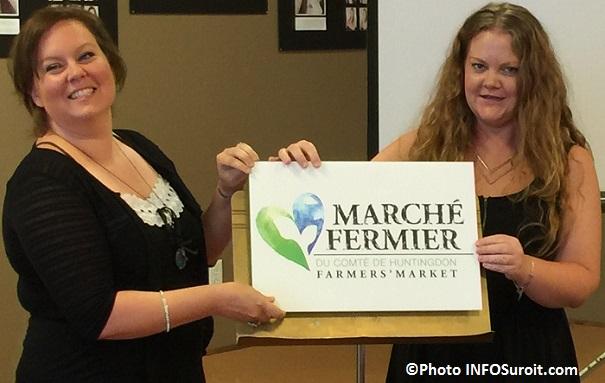 Marche Fermier Huntingdon devoilement logo A_Lacroix et LA_Prevost Photo INFOSuroit_com