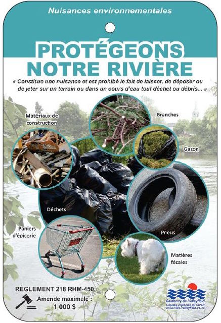 affiche photo ville Valleyfield Protegeons notre riviere Visuel Valleyfield