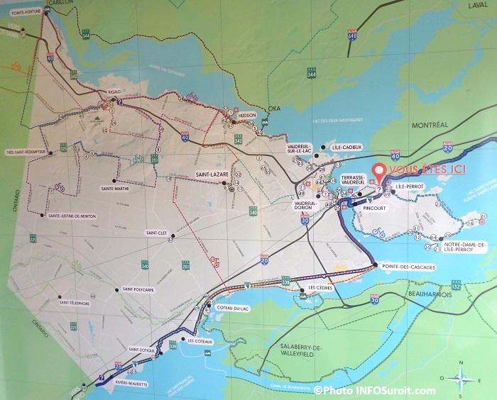 carte touristique Vaudreuil-Soulanges Photo INFOSuroit