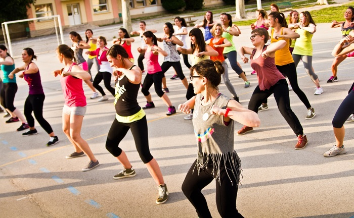 danse Zumba en plein air Photo courtoisie Ville Chateauguay