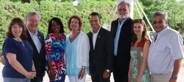 mairesse de St-Urbain avec elus de la region juillet 2016 Photo courtoisie via INFOSuroit