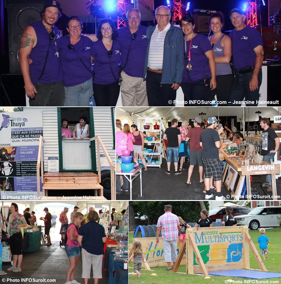 Fete du Thuya 2016 aux Cedres benevoles avec maire billetterie artisans et plus Photos INFOSuroit-J_Haineault