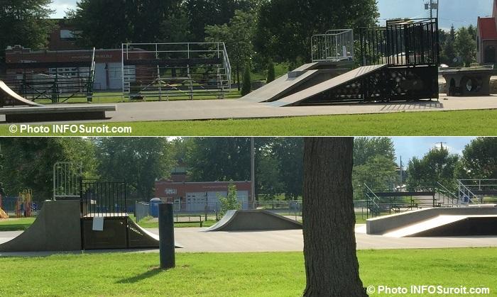 SkatePark a Beauharnois nouveaux modules de beton aout 2016 Photos INFOSuroit_com