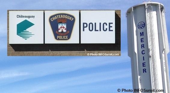 citerne d_eau Mercier et enseigne service de police Chateauguay Photos INFOSuroit_com