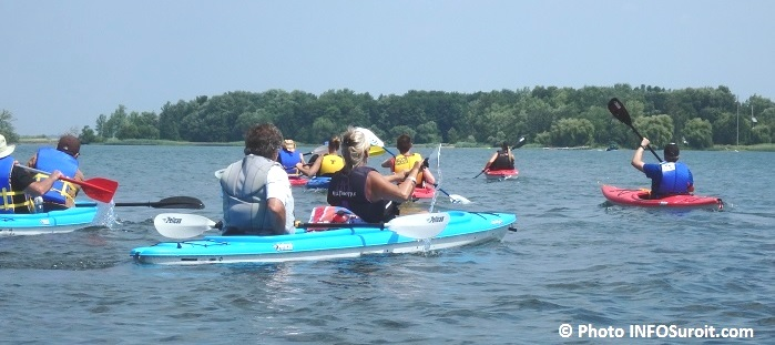 excursion kayaks lac St-Louis avec Kayak Beauharnois-Salaberry Photo INFOSuroit