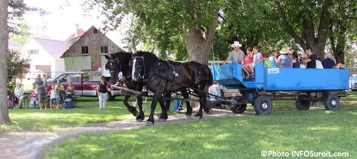 fete familiale St-Louis-de-Gonzague caleche visiteurs famille Photo INFOSuroit
