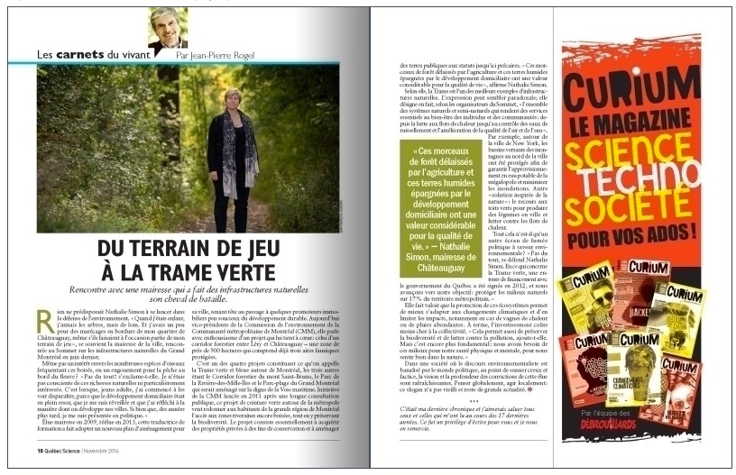 revue-quebecscience-article-nathaliesimon-mairesse-chateauguay-et-trame-verte