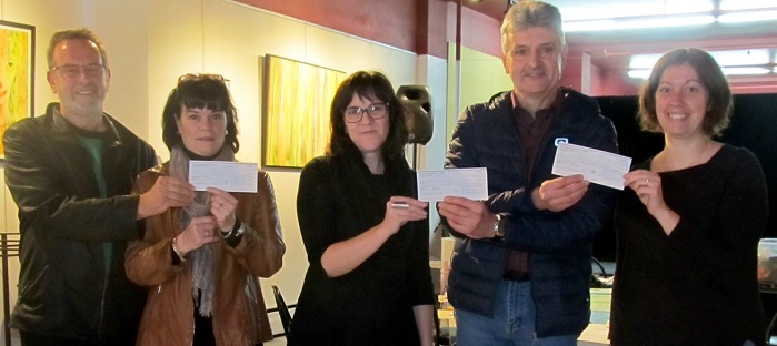 Distribution cheques Recyclerie Beauharnois-Salaberry a 3 organismes Photo courtoisie