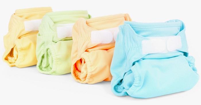 couches lavables jaune verte orange bleu Photo PublicDomainPictures via Pixabay