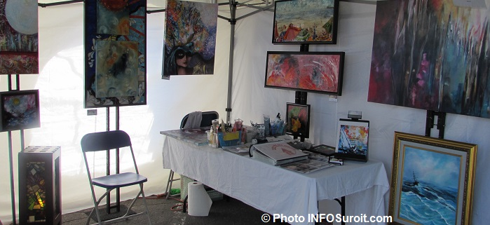 festival des arts Valleyfield kiosque artiste FrancineBoisvert tableaux Photo INFOSuroit