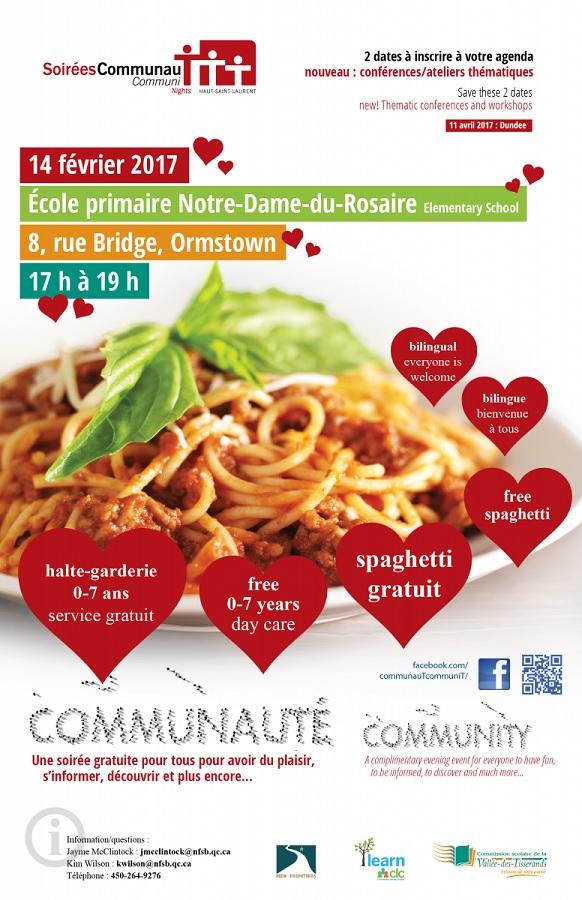 Affiche SoireesCommunauT Haut-Saint-Laurent pour 14 fevrier courtoisie MRC