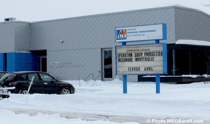 CFP Pointe-du-Lac a Valleyfield hiver enseigne et entree Photo INFOSuroit